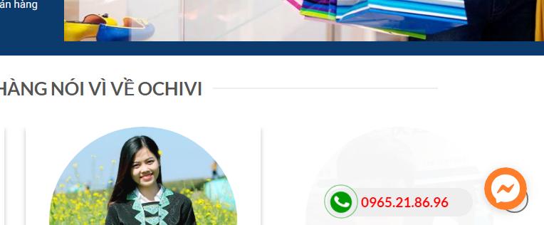 Share code hotline dưới góc màn hình của website